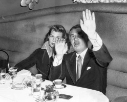 1951 Hayworth with agent Charlie Feldman after divorce