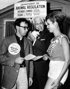 Woody Allen Richard Bonner name Miss Pussycat 1965 Anna Marie San Martin