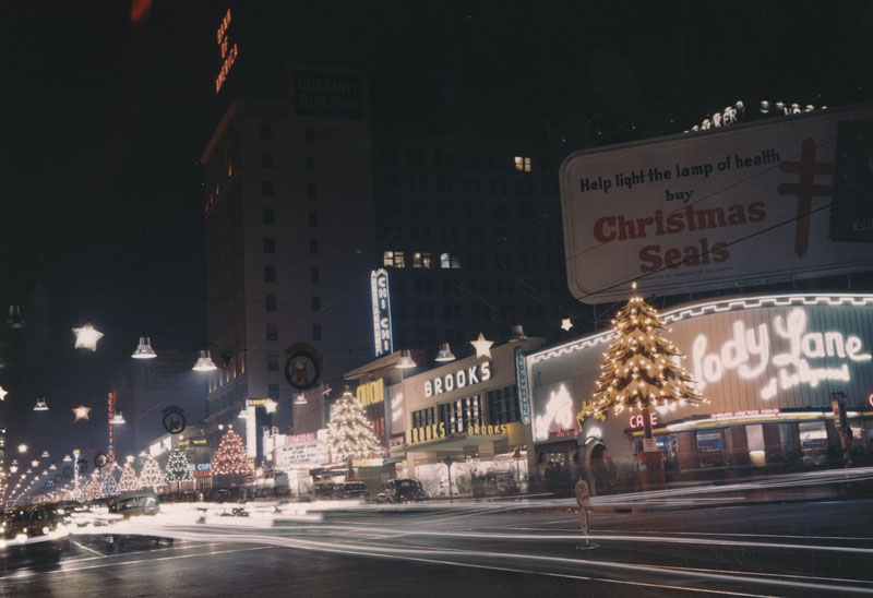 Hollywood Blvd Lit Up Like A Christmas Tree 1950 Beguiling Hollywood