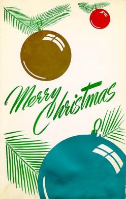 Woody & Eddy's Christmas Menu -1960