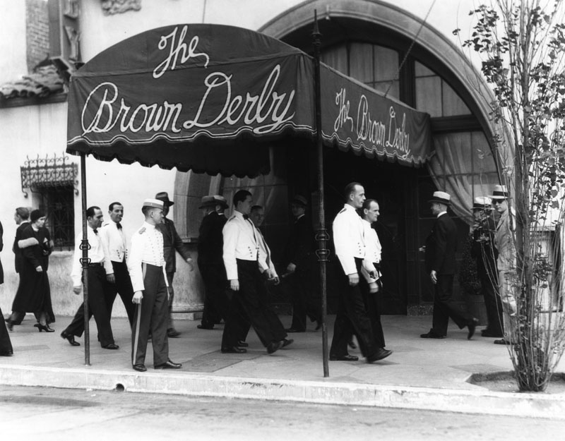 Hollywood waiters at the Brown Derby Strike