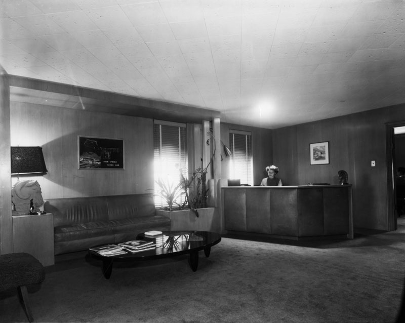 reception architectural firm 1950s