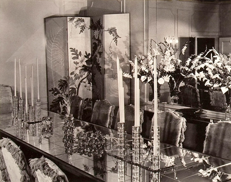 Basil Rathbone dining room