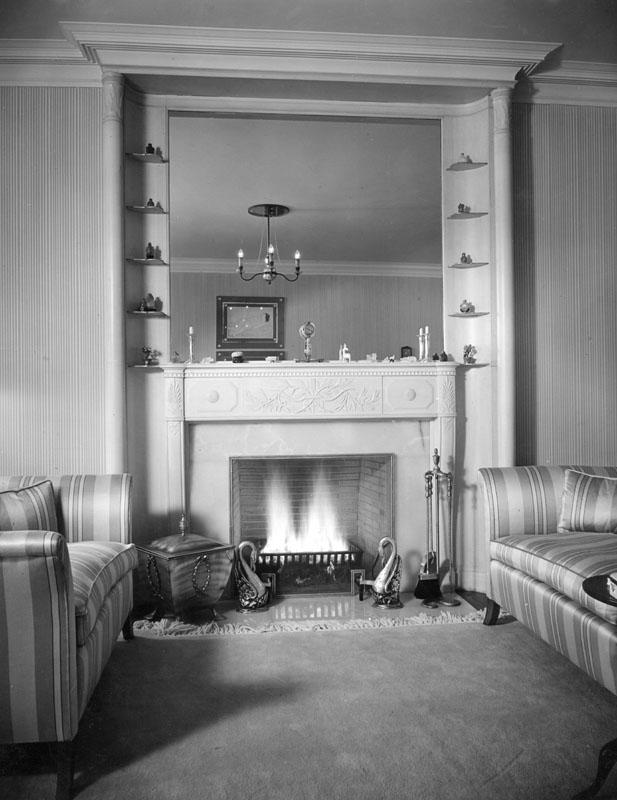 Fireplace at Constance Bennett's