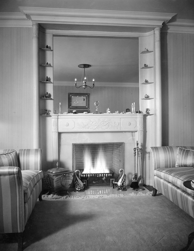 Fireplace at Constance Bennett's
