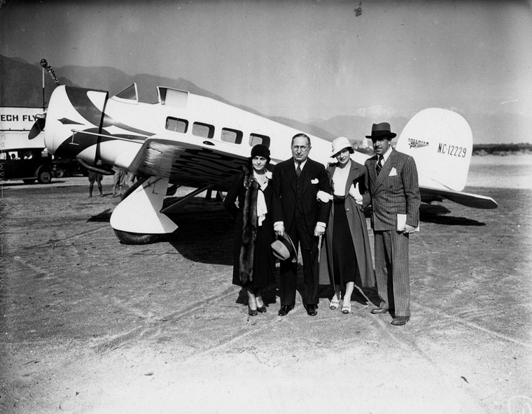 louis b mayer with wife at PS airport