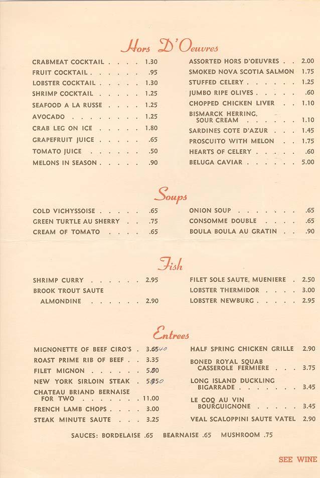 ciro's menu 1