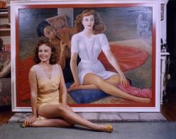 Diego Rivera portrait of Paulette Goddard 1940-1941