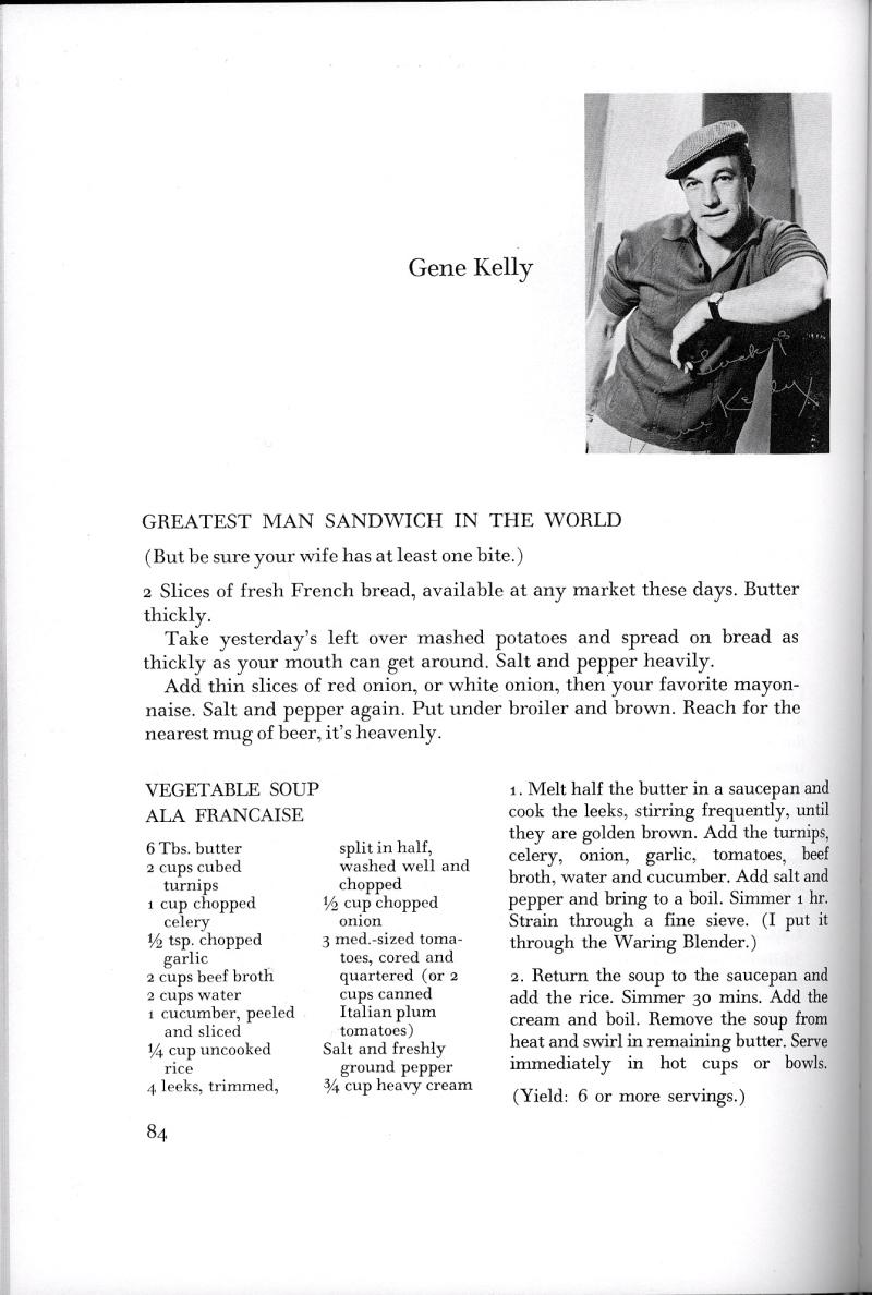 gene kelly greatest man sandwich
