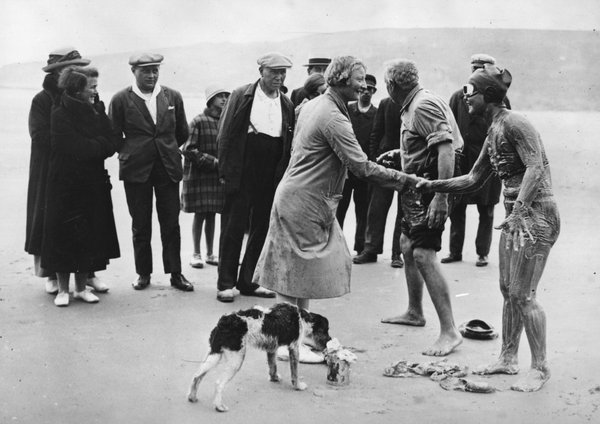 Gertrude Ederle after the swim