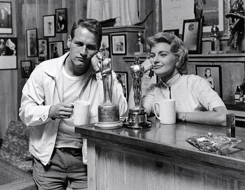 Joanne Woodward Paul Newman with and without Oscar