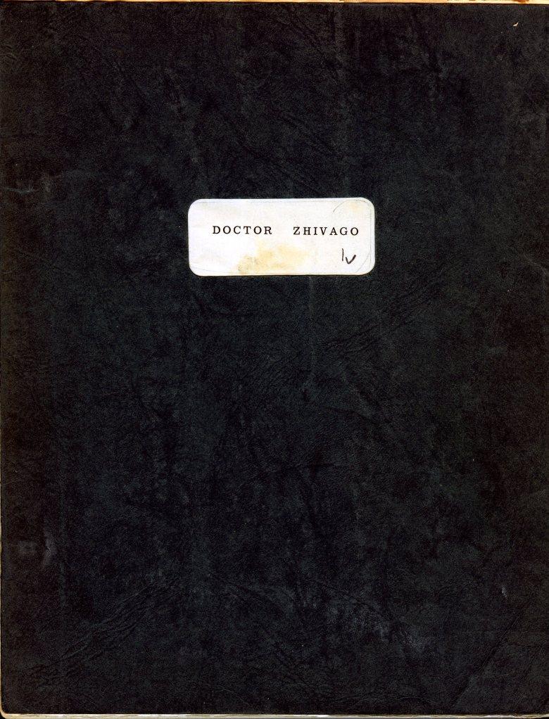 "Editing Dept. Shooting Script, ""Doctor Zhivago"", September 1964"
