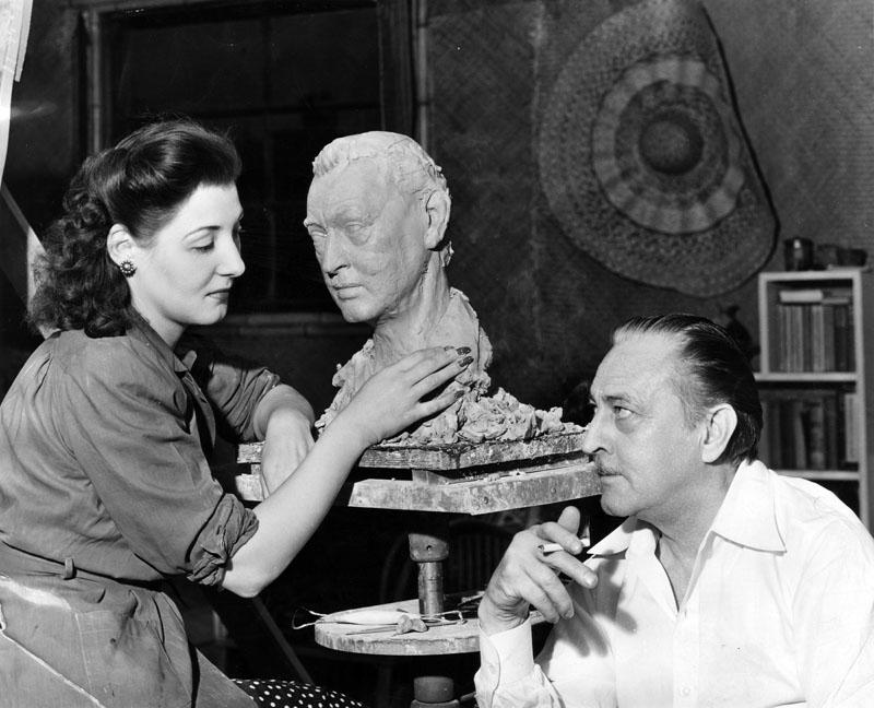1941 Barrymore poses for Katherine Stuberg
