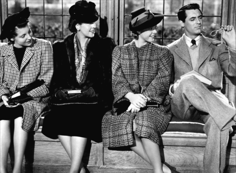 Cary Grant and the gals in Suspicion