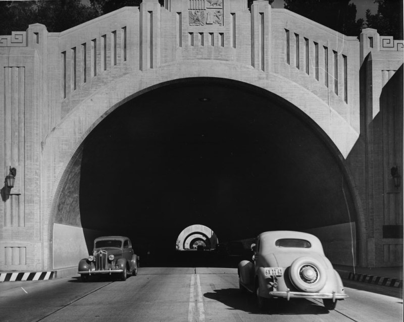 1938 tunnels downtown LA
