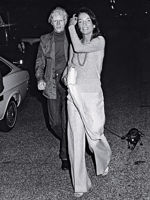 Lee Radziwill and Andy Warhol (Photo by Ron Galella/WireImage)