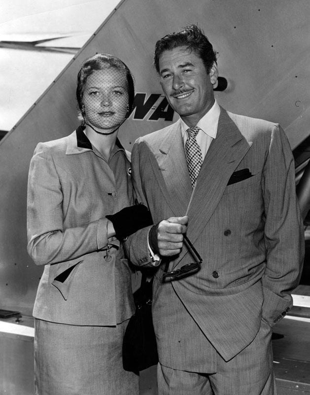 1950 Pat Wymore and Errol Flynn