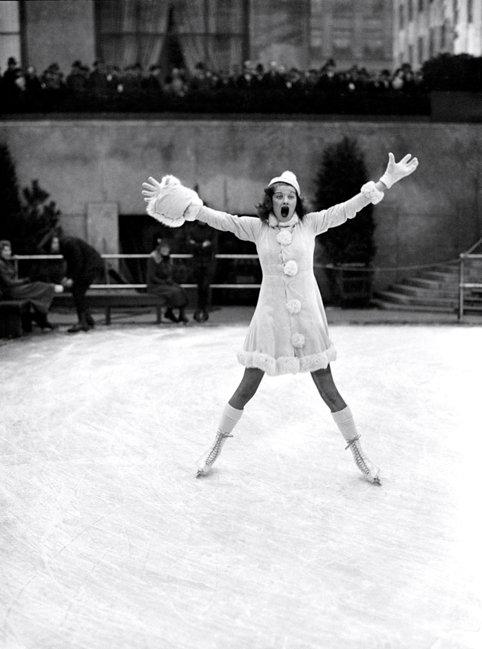 Lucille Ball on ice