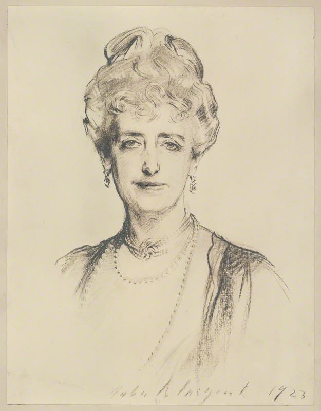 NPG D7185; Mabell Frances Elizabeth (nÈe Gore), Countess of Airlie after John Singer Sargent