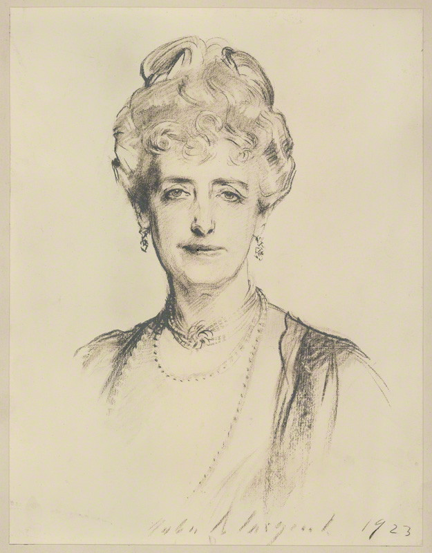 NPG D7185; Mabell Frances Elizabeth (nÈe Gore), Countess of Airlie after John Singer Sargent
