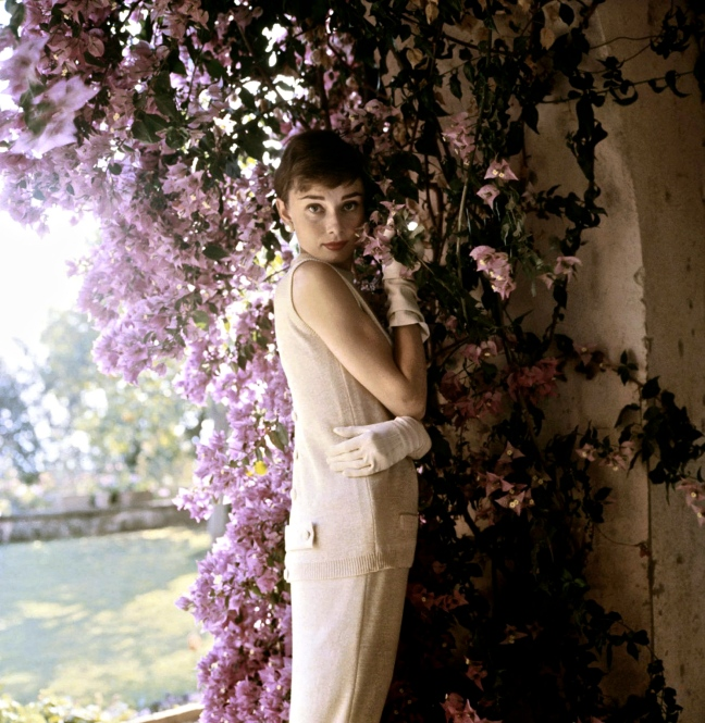c. 1955: Audrey Hepburn, near Rome, Italy (Photo by Norman Parkinson)