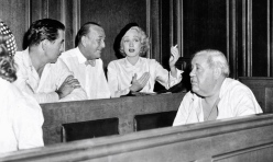 Tyrone-Power-Noel-Coward-Marlene-Dietrich-Charles-Laughton-Witness-Prosecution