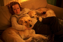 Heather and her Goldens, photography by Remi Benali