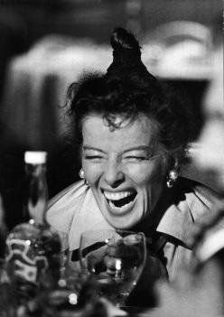 "Katharine Hepburn in scene from ""The Iron Petticoa"