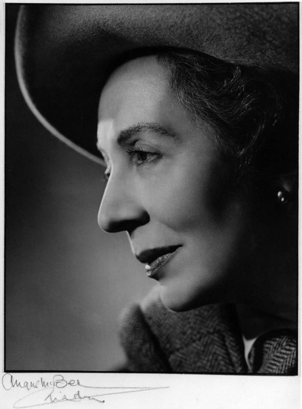 Dame Edith Evans, by Angus McBean, bromide print, 1959
