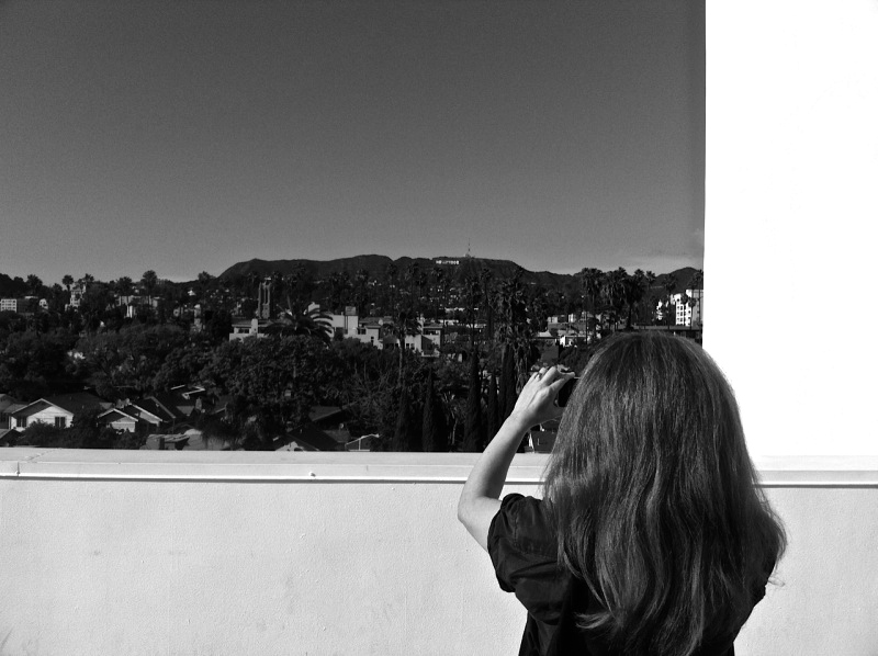 looking toward Hollywood sign