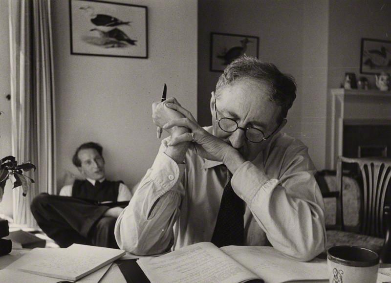 E.M. Forster and John Crozier, by Kurt Hutton (Kurt Hubschman), bromide print, 1949