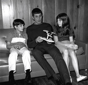 Leonard Nimoy with Adam and Julie