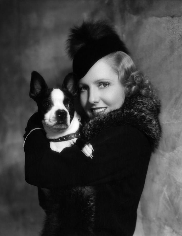 jean-arthur-with-boston-terrier-1935-everett