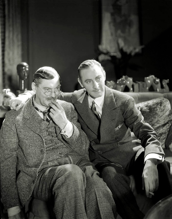 Lionel and John Barrymore, Photographed by George Hurrell on Grand Hotel (1932)