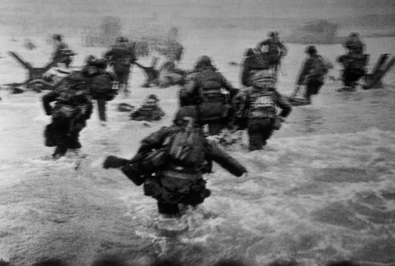 Robert Capa, D-Day Landing at Normandy