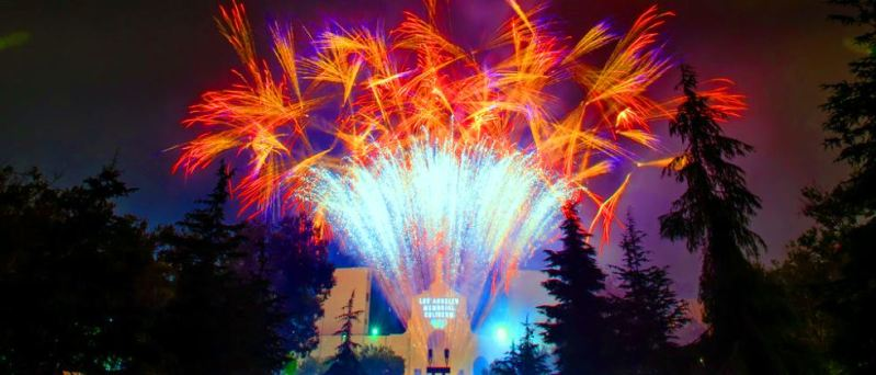Los Angeles Coliseum Fireworks