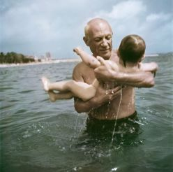 Picasso and son Robert Capa