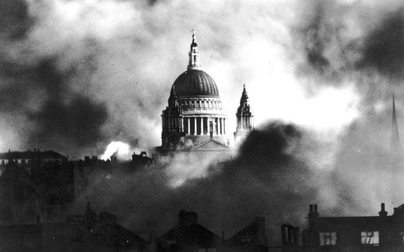London Blitz, St. Paul's survives, photo by Herbert Mason